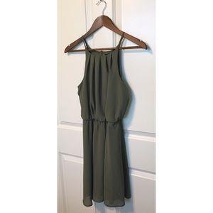 Blue Rain halter style dress